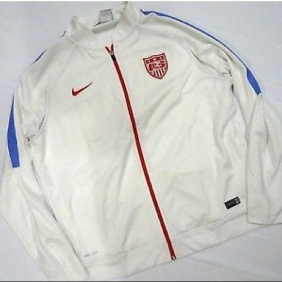 b1ab310dbd2 Nike US Soccer Full Zip DriFit Jacket Team USA